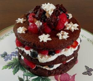 Audrey's Naked Chocolate Cake
