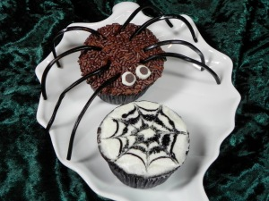 spider Halloween cupcake