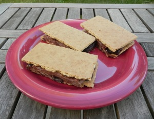 stovetop s'mores sandwiches