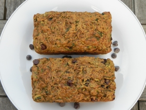 zucchini bread with chocolate chips and ginger