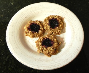 PB & J thumbprint cookie