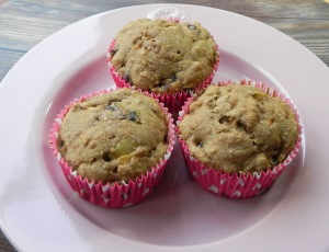 holiday fruit muffins