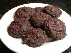 Chocolate Chocolate Oatmeal Cookies