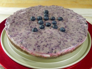 Raw Red, White and Blue Cheesecake