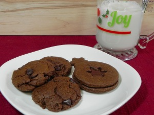gingerbread cookies with chocolate