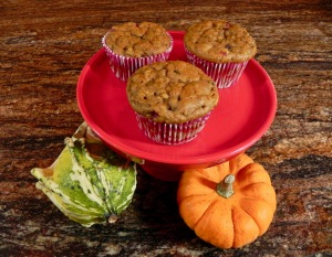 Cranberry Studded Pumpkin Muffins