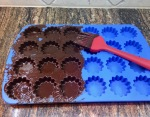 coating silicon mold with chocolate