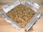 foil sling with granola