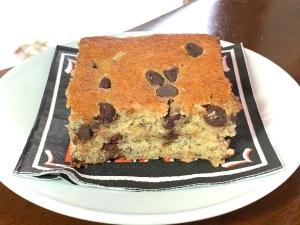 Chocolate Chip Banana Cake Pan Cake
