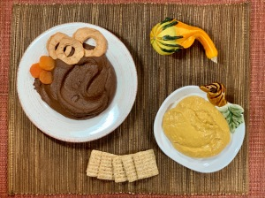 dessert hummus and butternut squash dips
