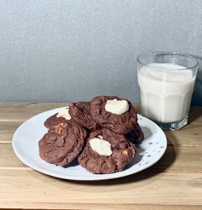 gluten-free marshmallow studded cookies